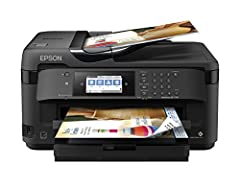 "Storage Dimensions: 22.3"" W x 19.1"" D x 13.4"" H Epson all-in-one printer can print, scan, copy and fax PrecisionCore technology lets you create borderless prints up to 13"" x 19"" in size 250-sheet paper tray can also hold up to 20 sheets of photo pape..."