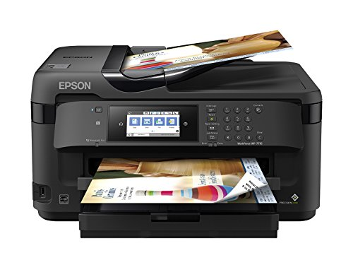 Epson WorkForce WF-7710 Wireless Wide-format Color Inkjet Printer with Copy, Scan, Fax, Wi-Fi Direct and Ethernet, Amazon Dash Replenishment Enabled