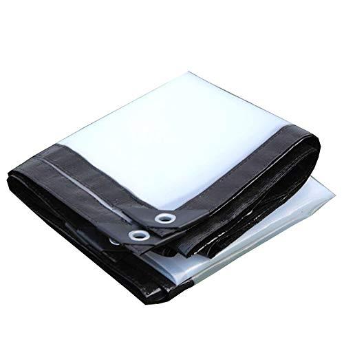 WXQIANG Tarra Transparente con Ojales Tarpaulinas Impermeables Multiusos for Cubierta de la Piscina de la Taza de la Carpa con Dosel Protección Solar, Aislamiento térmico. (Size : 6M×6M)