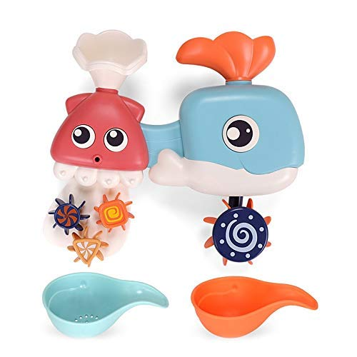 Lovely Toys Baby Summer Water Fun Play Toys Juguetes Spray Ballena Waterwheel Juguetes para niños Baño Bañera Ducha Juguetes educativos para niños Regalo (Color: Octopus) ( Color : Whale N Octopus )