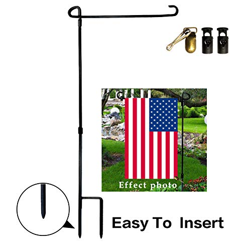 """VIEKEY Garden Flag Stand-holder-Pole Come With Garden Flag Stopper And Anti-Wind Clip 36.3"""" H x 16.5"""" W (5 Pcs) For USA Flag Or Season Garden Flags Keep Your Flag Never Get Twisted Again"""