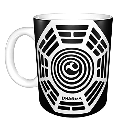 Dharma Initiative Logo Lost Tv ShowMugTaza de té de cerámica, taza de café de oficina, 11 onzas