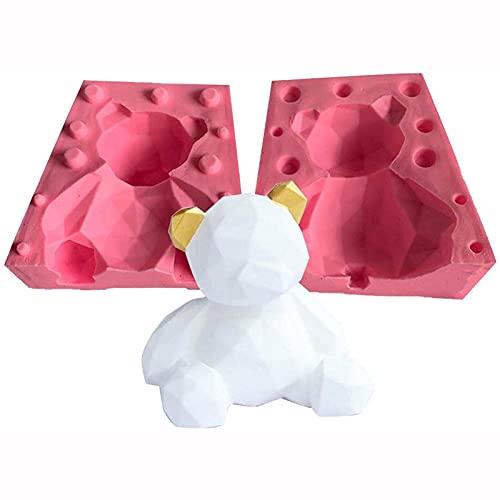 Molde de la artesanía de la artesanía de la artesanía de la artesanía del oso 3D Herramientas para hornear de bricolaje para el chocolate con fondant haciendo fácil de liberar y limpiar multifuncional