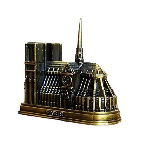 6Wcveuebuc Catedral Notre Dame DE París Modelo 3D Metal Artesanía Francia Tourism Souvenir Regalos