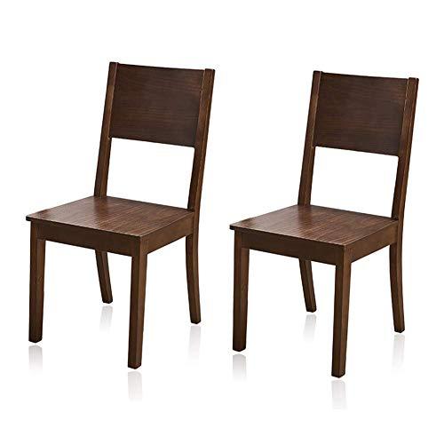 """NBVCX Juego de decoración de Muebles de 2 sillas Plegables de Madera, sillas de Comedor, Muebles de Restaurante para el hogar, Silla Lateral para Comedor portátil (18.1""""x 16.1"""" x 35.4"""") Nogal"""