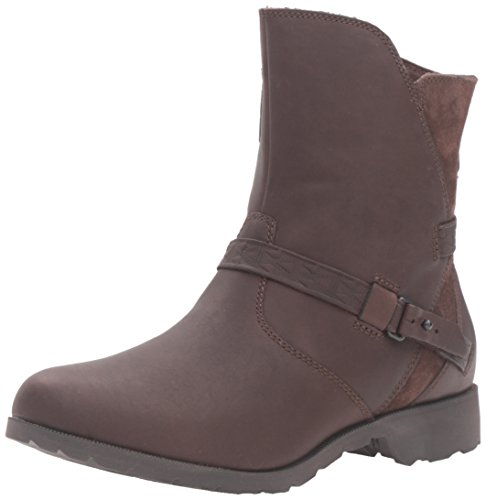 Teva Damen Delavina Low - Mosaic Kurzschaft Stiefel, Braun (Dark Brown- DKBDark Brown- Dkb), 37 EU