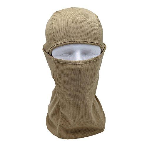 Preisvergleich Produktbild MMLC Sturmhaube Gesichtshaube Skihaube Skimaske Kopfhaube Thermoaktiv Atmungsaktiv Skiunterwäsche Motorradunterwäsche - Ski - Motorrad (Khaki)