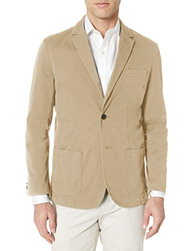 Amazon Essentials Men's Woven Sport Coat, Khaki, 42