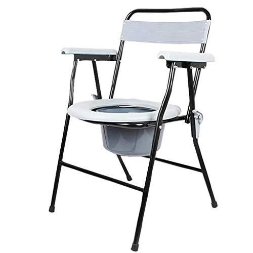 Z-SEAT Älterer klappbarer Leichter Kommodenstuhl mit leicht entfernbarem Toplader-Topf, Toilettenkommode-Toilettenstuhl am Bett