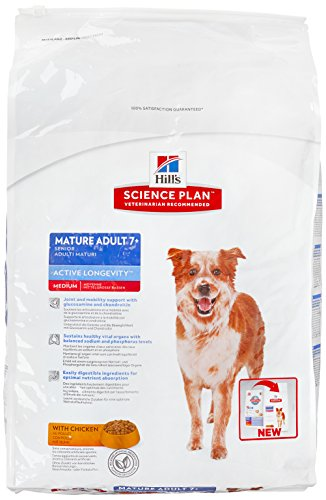Hill's Canine Mature Adult Senior7+ Huhn 12kg, 1er Pack (1 x 12 kg Packung)