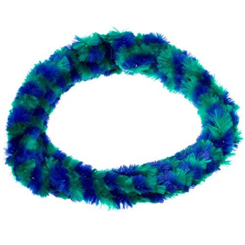 Paar Nabenputzringe - grün/ blau - für vorne u. hinten, für Motorrad-Nabe Ø232mm, 760mm lang