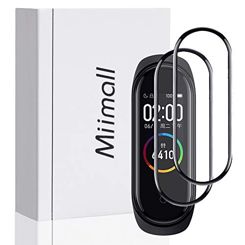 Miimall 【2枚セット】xiaomi Mi band 4/4NFCフィルム PMMA+PC合板 シャオミ ミバンド4 スマートウォッチ液晶保護フィルム 指紋防止 気泡なし 高透過率 簡単貼付 保護フィルム スマートウォッチ