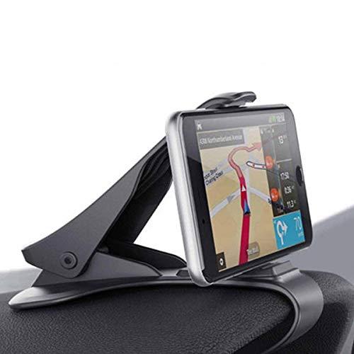 DingHome Soporte para teléfono del automóvil Undersal 360 Monte Soporte para teléfono Celular en el Soporte del Tablero de Instrumentos de Coche GPS para iPhone Xiaomi Samsung Titulares