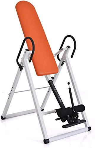 Omgekeerde machine fitness Comfort nVersie Tafel Met Ultra-Thick Terug Ondersteuningstabel Fitness Chiropractic Table Oefening Yoga omgekeerd kruk staan (Color : Orange, Size : 113 * 64 * 146cm)