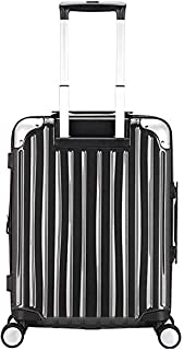 Flower Pot Rack Travel Suitcase Luggage Large Capacity Outdoor Travel Business Boarding Customs Lock Box Expandable Trolley Case Trunk (Color : White, Size : 45x29x69cm),Size:39x27x58cm,Colour:Silver