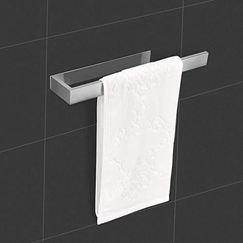 Lolypot Handtuchhalter Ohne Bohren, Gebürstet Edelstahl Handtuchstange, Handtuchring Selbstklebend Badetuchhalter, Badetuchstange 35cm für Bad und Küche(Edelstahl gebürstet, Ohne Bohren)