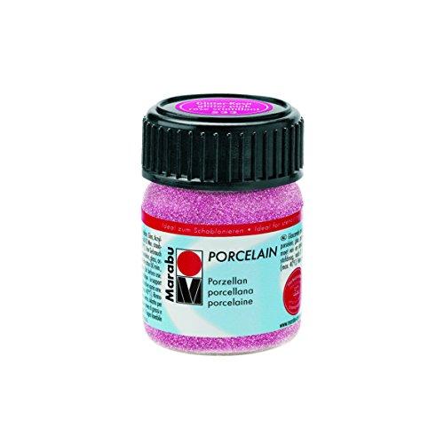Marabu Jar, Porzellan Farbe, Glitter Pink, 2,8x 2,8x 4,2cm