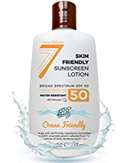 EWG Best Rated Non-Mineral Sunscreen - Safe for Sensitive Skin and Face - Broad Spectrum UVA/UVB Sunblock Lotion with Moisturizing Aloe & Vitamin E - Reef Safe Ingredients - 8 fl oz