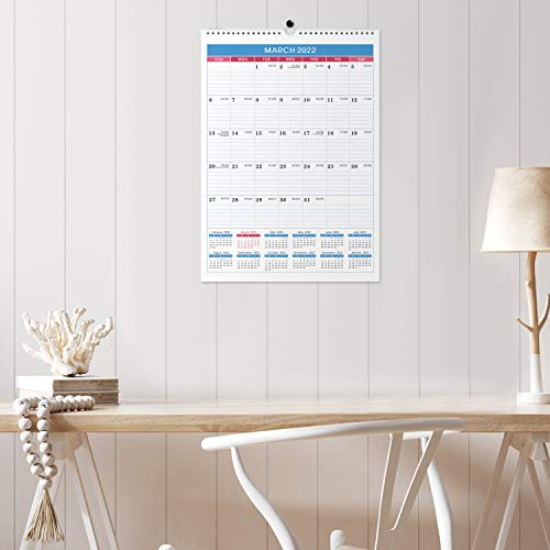 """2021-2022 Calendar - 18 Months Wall Calendar Planner from Jul 2021- Dec 2022, 12""""x17"""" , Twin-Wire Binding, Julian Dates, Thick Paper, Perfect for Planning and Organizing"""