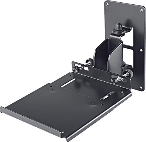 K & M Stand K & M Speaker muurbeugel met plank, zwarte stage en studio Equipment-koffer (24171.000.55)