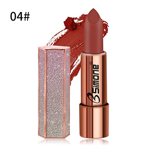 HONGSHAN glanzend uiterlijk hydraterende lippenstift langdurige waterdichte anti-aanbaklaag sexy rode lip mat naakt lip