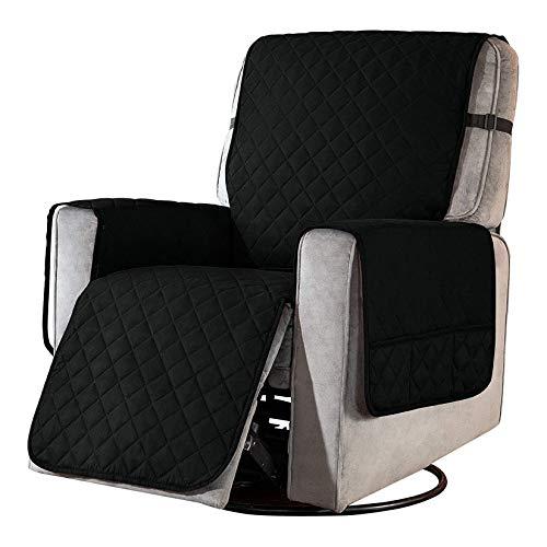 Facai Funda de sillón Reclinable, Protector para Sofás Acolchado Reversible, Funda de Sillón Relax, Funda Cubre Sofá #9 S