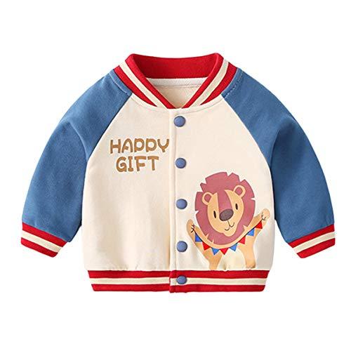 Famuka Baby Jacke Junge Mädchen Übergangsjacke Frühjahr Sommer Babykleidung (Blau, 9-12 Monate/80)