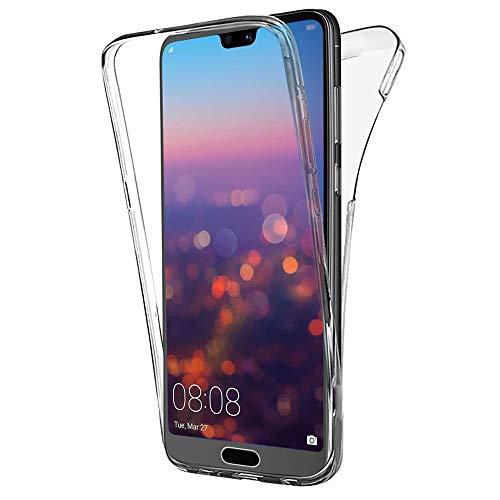 COPHONE® Coque 360 degrès Transparente en Gel Compatible avec Huawei P20 Pro Protection Integral et Invisible. Haute qualité