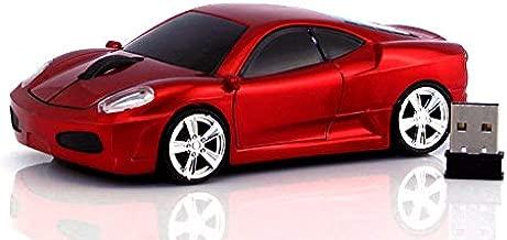 Jinfili Car Wireless Mouse Ergonomic Gaming Optical Mice USB 2.4G Mini Receiver for..