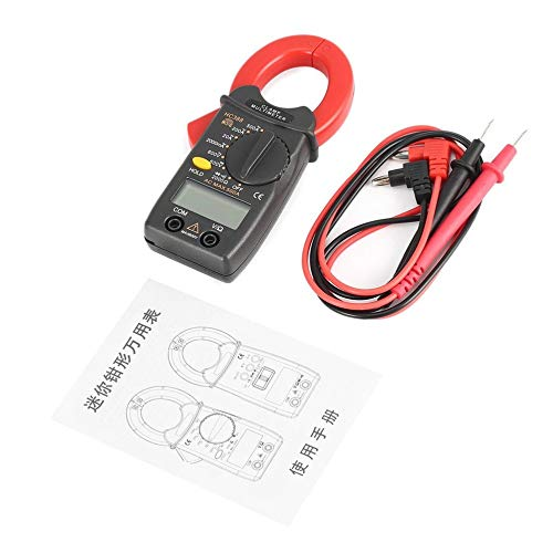 LeftSuper Hc388 Pinza amperimétrica HC388 Mini Pinza amperimétrica Digital Multímetro AC/DC...
