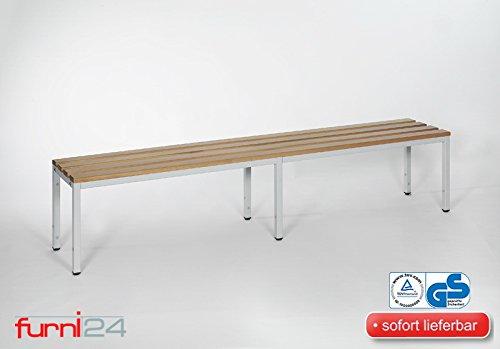 furni24 Bank Umkleidebank Sitzbank Garderobenbank Sportbank 200 cm x 42 cm x 40 cm