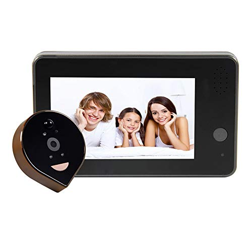 NDY Smart Cat Eyes, Visible Doorbell WiFi Home Remote Monitoring Motion Detection Alarm HD Infrared Night Vision 4.3 Inch Display