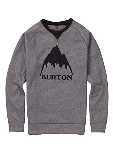 Burton Men's Bonded Crew Hoodie, Monument Heather W19, Medium