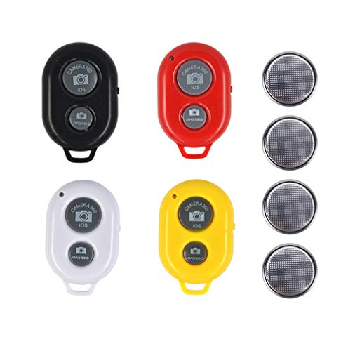 4 Pack Wireless Bluetooth Camera Remote Control Shutter Compatible with iPhone/Most iOS and Android Smartphones, Tablets,Create for Taking Photos and Videos/Selfies by Hands Free