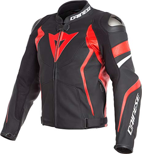 Dainese Avro 4 Leather Jacket Matte Black/Lava Red/White for sale  Delivered anywhere in Canada