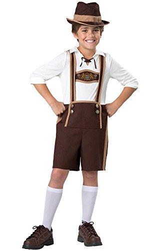 InCharacter Bavarian Boy Lederhosen Costume L