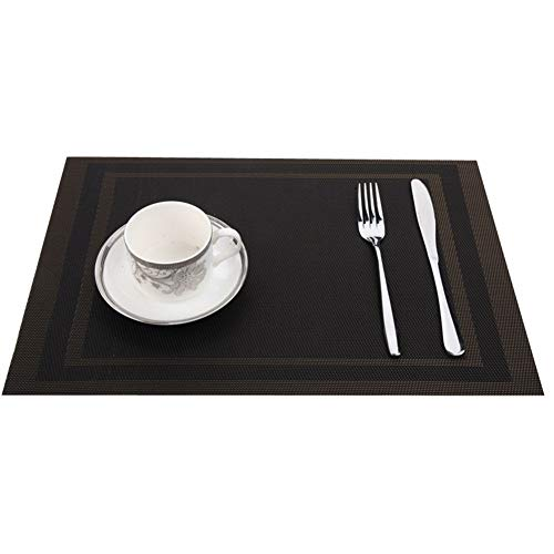 KangJiaoNanG Basics voor de vakantie diagonaal box dubbele frame groen placemats Western Food isolatie pad rechthoekig eenvoudige tafelmat De placemats set van 6 place matten