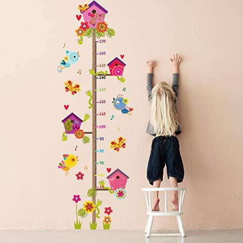 Pegatina pared medidor altura animales para dormitorios bebes infantiles cuartos de juegos,Gráfico de crecimiento,Vivero Habitación de los Niños Removible Etiquetas de la Pared Murales