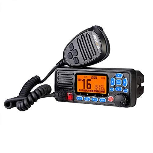 Retevis RA27 Ricetrasmettitore Marino, Impermeabile IP67, DSC di Classe D, GPS, 88 Canali VHF, Doppio/Tri-orologio, Adatto per Ricetrasmettitore Marino (1 Pezzo, Nero)