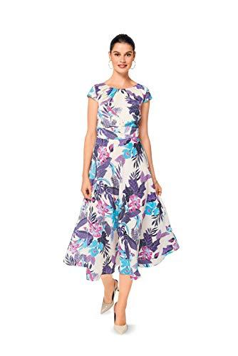 Burda 6529 Schnittmuster Kleid mit kleinen Ärmeln (Damen, Gr. 34-44) Level 3 mittel