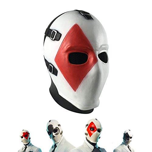 Fortgame Maske Square Poker Face Mask Carnival Christmas Halloween Mask