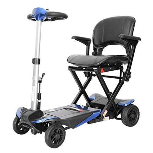 LIYIN Kompakter klappbarer 4-Rad-Mobilitätsroller für Mobilitätshilfe und Reisen, tragbarer Elektromobil für Senioren und Erwachsene