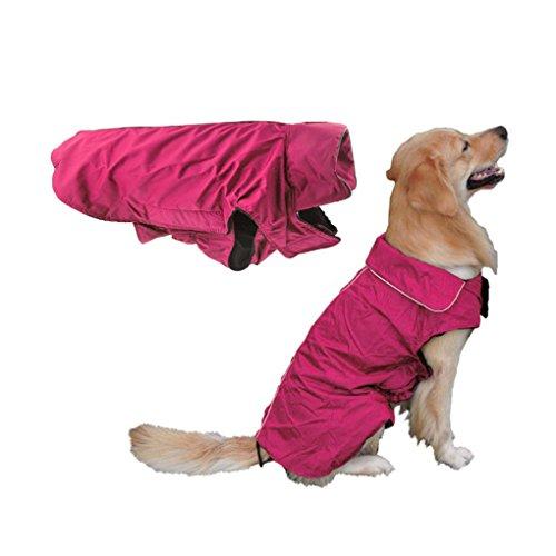 Cappottino impermeabile per cani di grossa taglia, cappottino invernale foderato, giacca impermeabile per cani, cappottino invernale caldo, abbigliamento per cani XL XXL XXXL