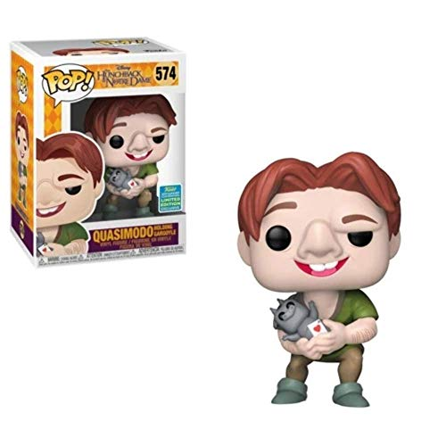 Funko Pop Hunchback of Notre Dame Quasimodo Holding Gargoyle SDCC Shared Sticker Exclusive