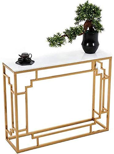 Home Accessories Marble Console Table Multipurpose Contemporary Entryway Tables Living Room End Table Perfect Platform For Framed Photos and Collected Curios 31 times 11.8 times 29.5in (