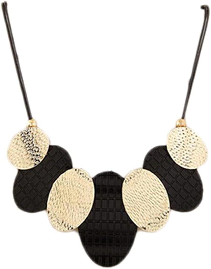 SONTONXON Retro Leather Statement Necklace & Pendants Vintage Collar Choker Necklace for Women Party Jewelry
