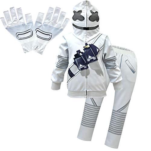 Kinder DJ Lustige Halloween Cosplay Kostüme Elektronische Tanzmusik Hoodies Pullover Kleidung Sets Gr. 7-8 Jahre, Stil 2