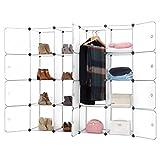 Finether-Armario Modular para organización de 16 Cubos ?para Ropa Zapatos Juguetes Libros Chucherías?Blanco