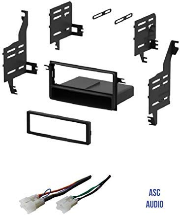 ASC Single Din Car Stereo Install Dash Kit and Wire Harness for 2005-2010 Scion tC, 2004-2006 Scion xA, 2004-2014 Scion xB, 2008-2014 Scion xD, 2007-2014 Toyota FJ Cruiser, 2007-2011 Toyota Yaris