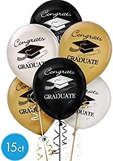 Amscan 119778 Graduation Latex Balloons   Party Favor   Pack of 15